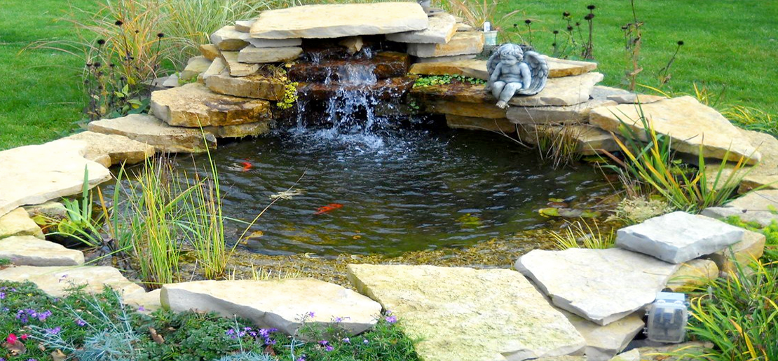 Ponds water features grf builders ltd for Pond features